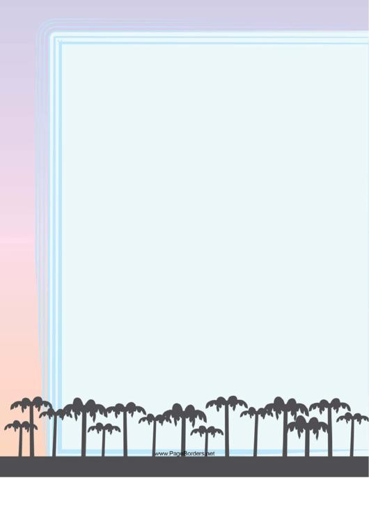 Palm Trees Border Printable pdf