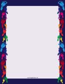 Rainbow Footprint Border