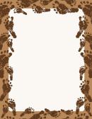 Brown Footprint Border