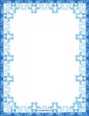 Blue Footprint Border
