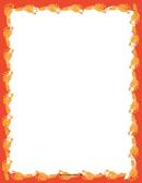 Orange Footprint Border