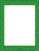 Green Frog Footprint Border