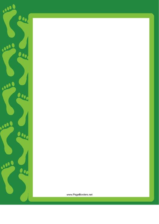 Green Footprint Border Printable pdf