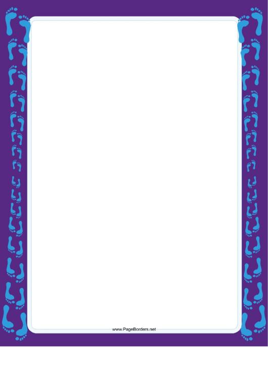 Footprint Pairs Border Printable pdf