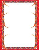 Red Bird Footprint Border