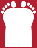 Red Footprint Border