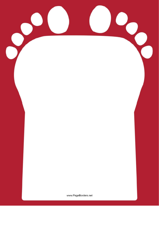 Red Footprint Border Printable pdf
