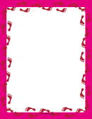 Pink Footprint Border