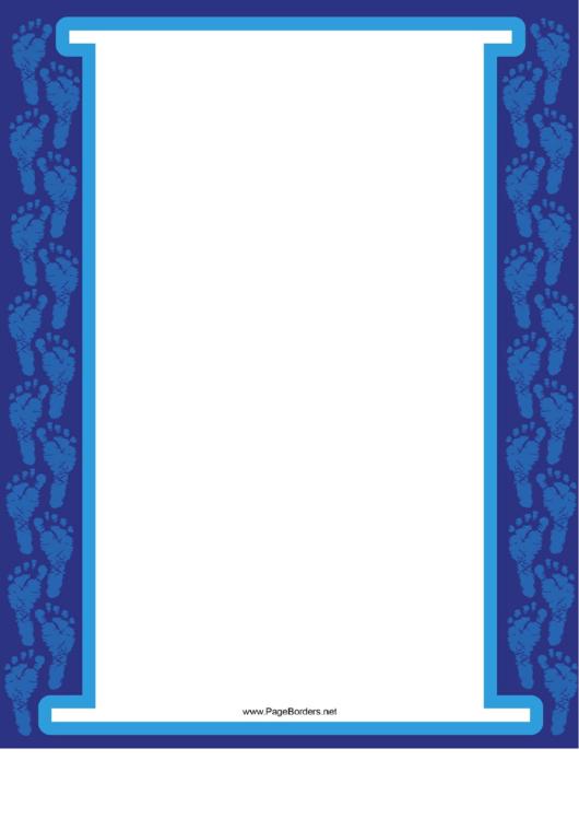 Two Column Footprint Border Printable pdf