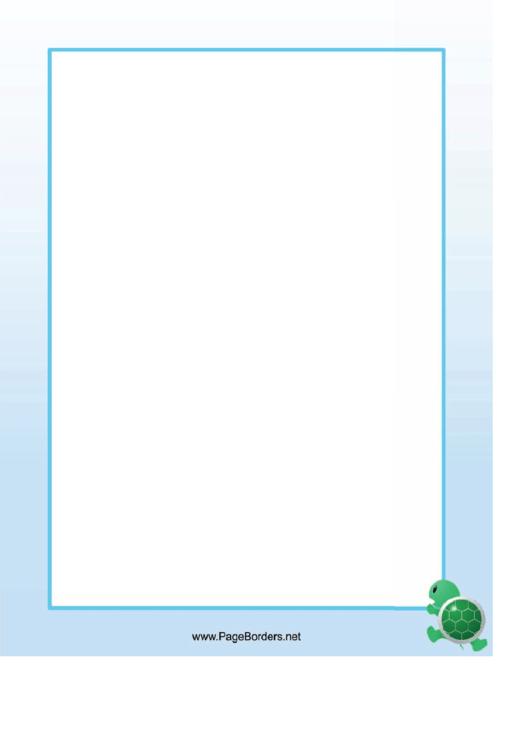 Climbing Turtle Border Printable pdf