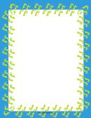 Blue And Yellow Footprint Border