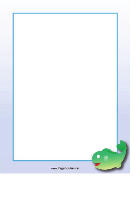 Green Fish Border Printable pdf