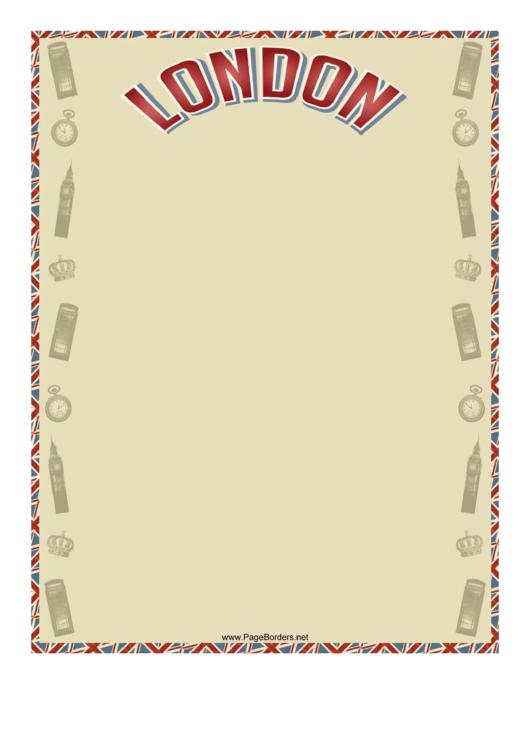 London Border Printable pdf