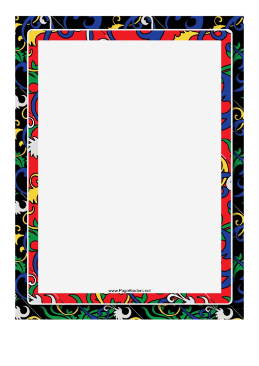 Black Chinese Border Printable pdf