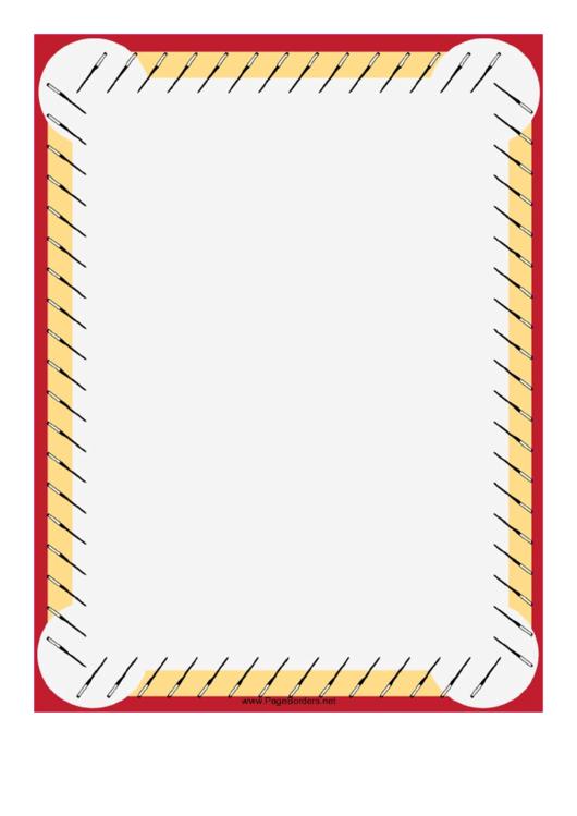 Chopsticks Chinese Border Printable pdf