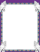 Stained Glass Prayer Border