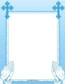 Blue Prayer Border
