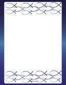 Shiny Blue Christian Fish Border