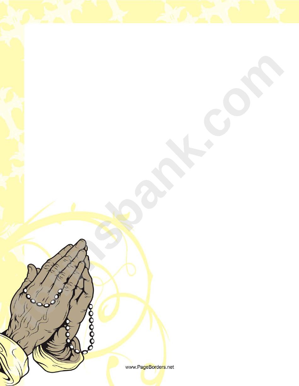 Rosary Prayer Border