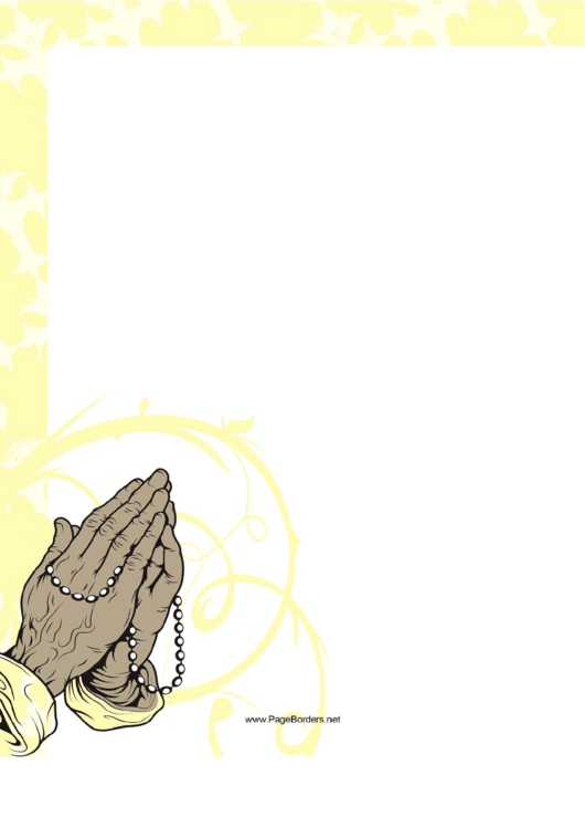 Rosary Prayer Border Printable pdf