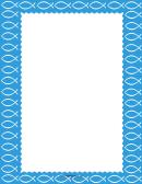 Blue Christian Fish Border