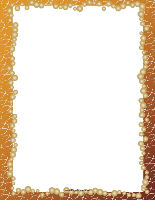 Orange Christ Fish Border Printable pdf
