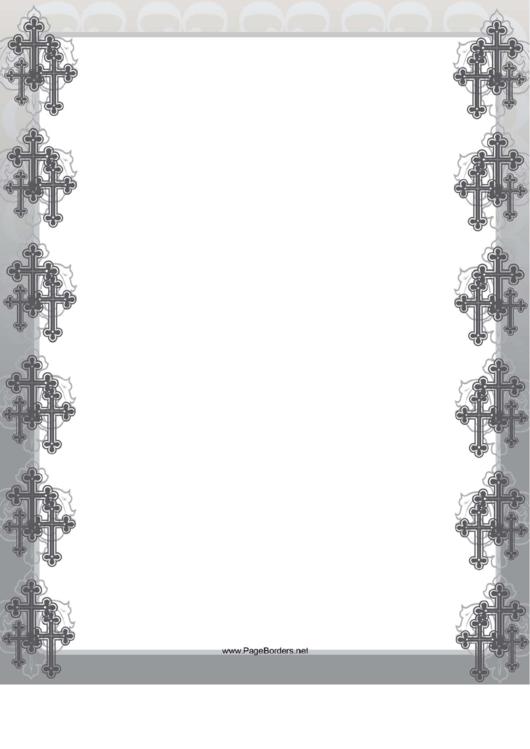 Clustered Crosses Border Printable pdf