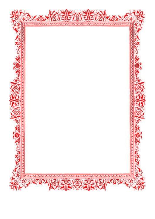 Antique Red Border Printable pdf