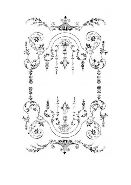 Victorian White Border Printable pdf