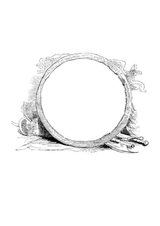 Round With Sword Border Printable pdf