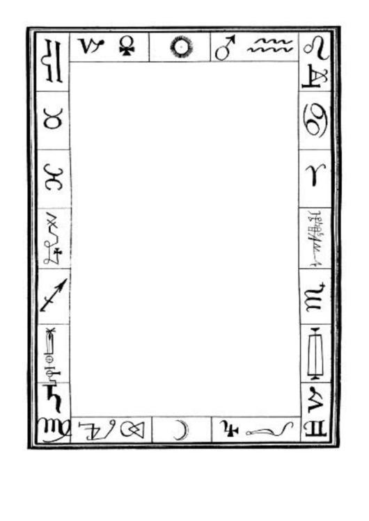 Alchemy Zodiac Border Printable pdf