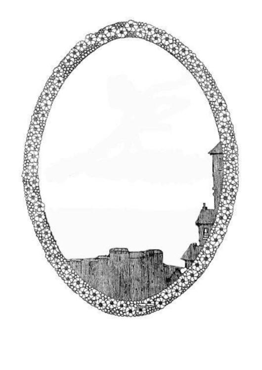 Round Medieval Village Border Printable pdf