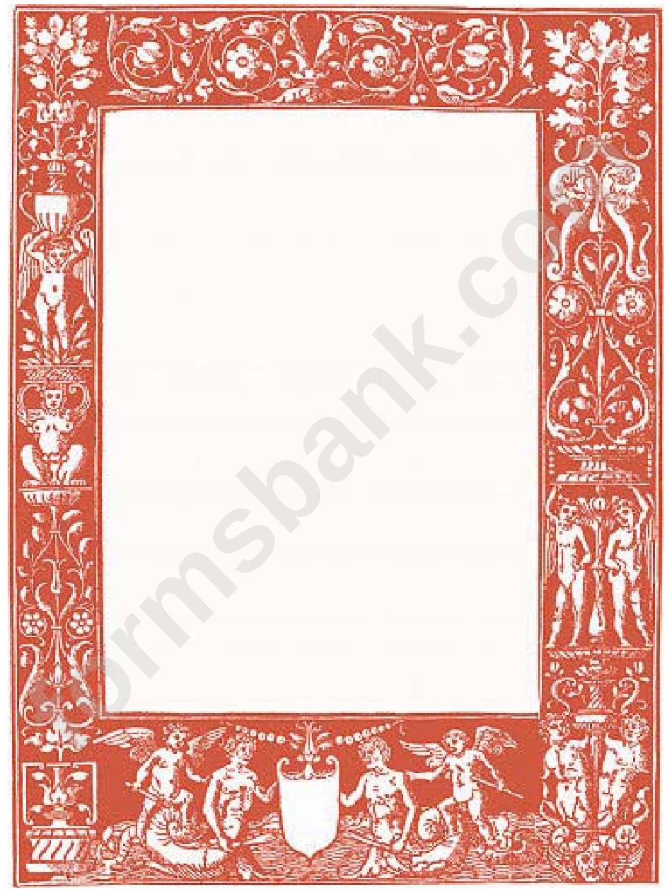 Classical Red Border