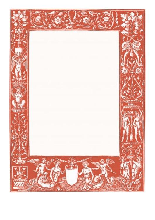 Classical Red Border Printable pdf