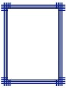 Blue Weave Border