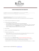 Student Employee New Hire Paperwork