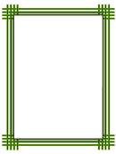 Green Weave Border