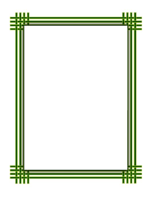 Green Weave Border Printable pdf