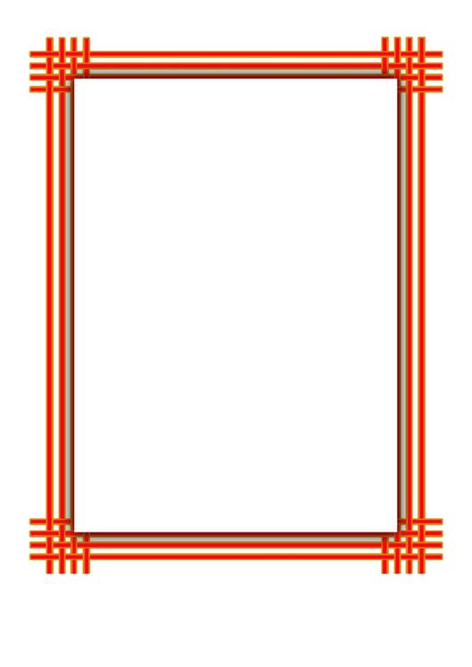 Orange Yellow Weave Border Printable pdf