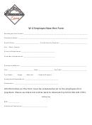 W4 Employee New Hire Form - Washington Deli