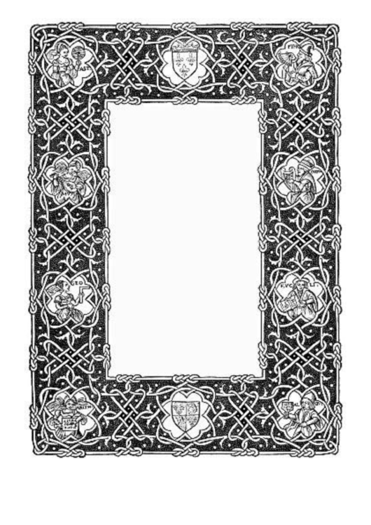 Celtic Knotwork Border Printable pdf