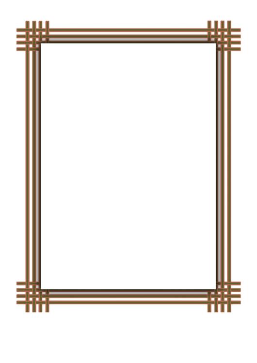 Tan Orange Weave Border Printable pdf