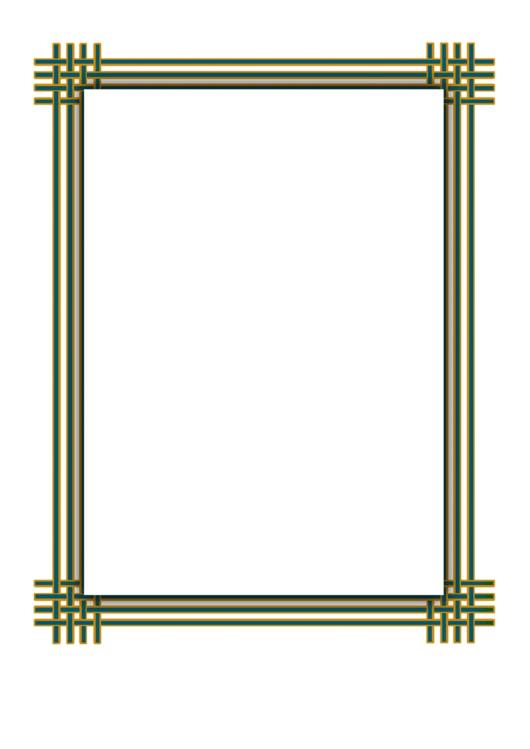 Cyan Orange Weave Border Printable pdf