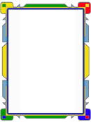 Colorful Flowpoint Border