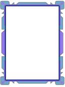 Blue Purple Flowpoint Border