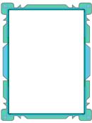 Blue Flowpoint Border