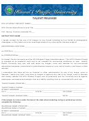 Talent Release Form - Hawaii Pacific University