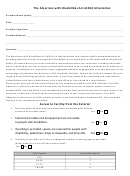 The American With Disabilities Act (ada) Attestation Form