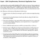 Aspen - Ada Complementary Paratransit Application Form - Rfta