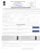 Application Form For Misc. Services - Consulate Of India